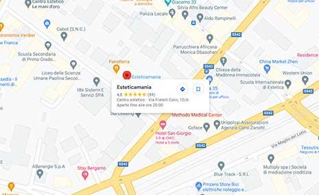 mappa esteticamania centro estetico bergamo